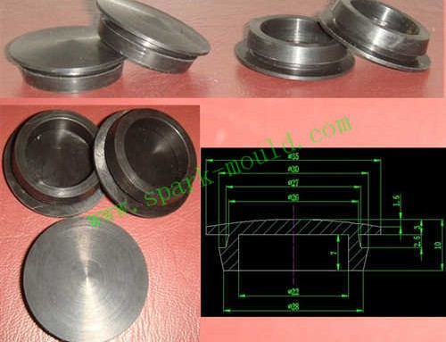 lathe machining part from spark mould